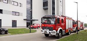 Wizyta straży pożarnej w firmie RADWAG Wagi Elektroniczne