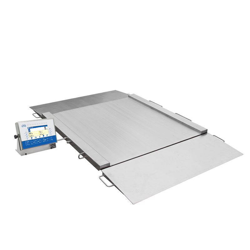 HX7.4N.1500.H2 Multifunctional Stainless Steel Ramp Scale, pit version - This robust design facilitates weighing of heavy loads in humid environment. The ramps enable easy loading and unloading