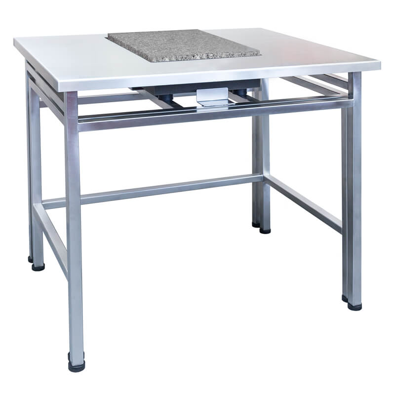 SAL/H/PLUS – Anti-vibration table in stainless steel technology