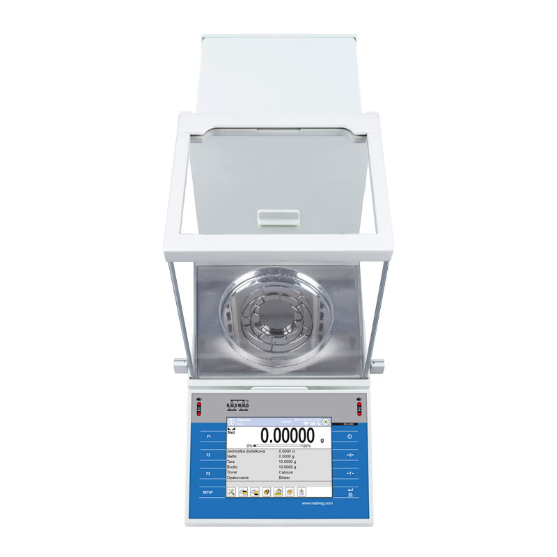 XA 110.4Y.A Analytical Balance - Innovative 2-point adjustment system Brand new adjustment system guarantees the highest measurement accuracy. It minimizes linearity errors simultaneously providing reliable indications for the whole weighing range (Max:110g/d:0,01mg)