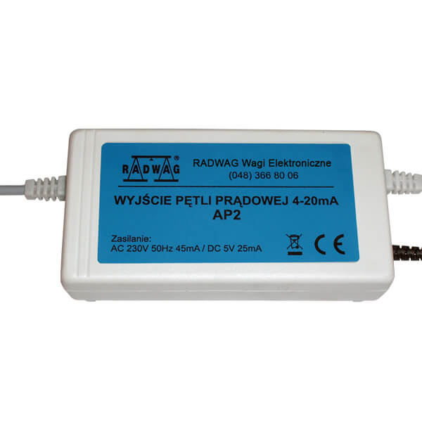 Sortie de boucle de courant AP2-1 (dans le boîtier en plastique) - Radwag Les Balances Electroniquesview:1