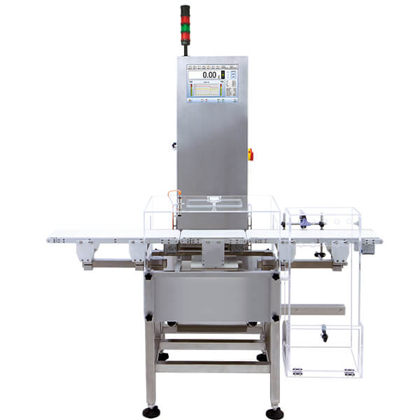 DWM 7500 Checkweigher - Used magnetoelectric modules allow to weigh products quickly, providing the highest accuracy of weighment. The device features a friendly, intuitive interface and several built-in functions that enable the statistical data operation and service process