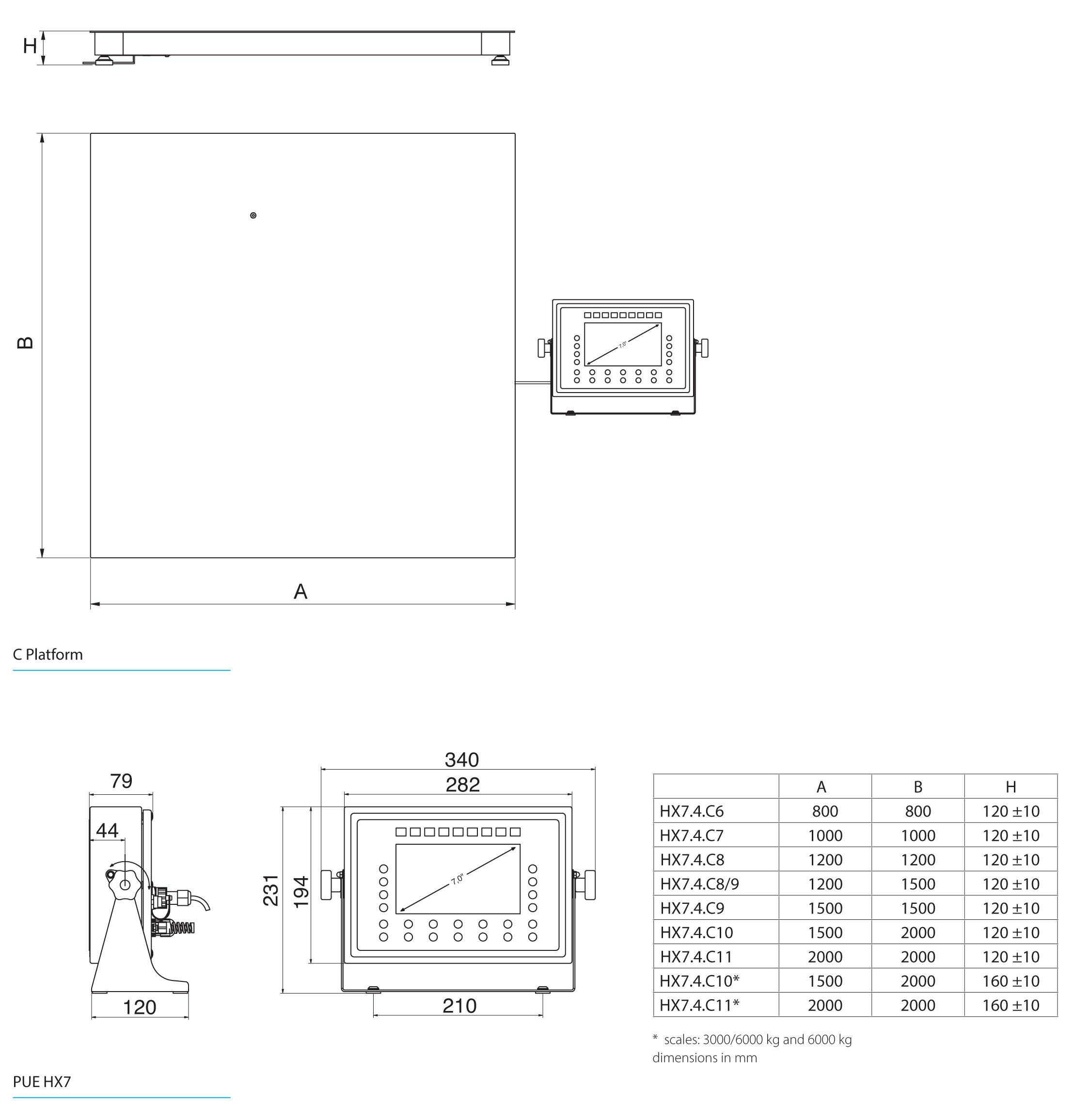 HX7.4.150.C6 Multifunctional Platform Scale