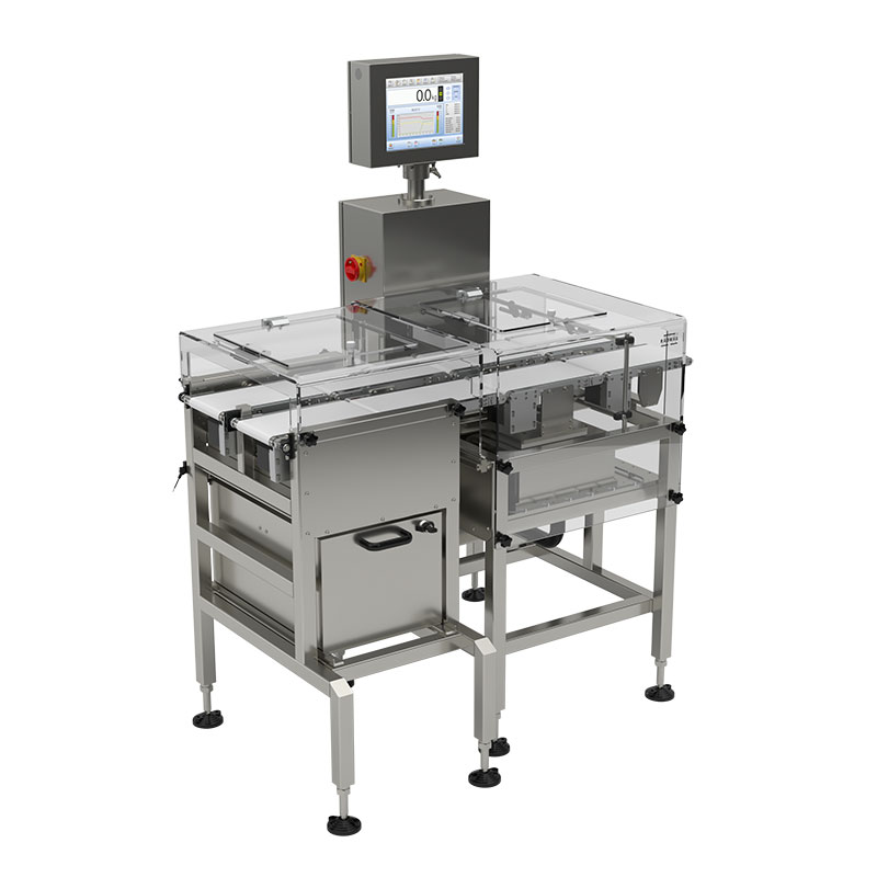 Multi - DWM H2 checkweigher assures the highest quality and accuracy of weighing. It is intended for integration with multi-track packaging machines transporting products to the line using several parallel tracks (Max:1500g/d:0,2g)