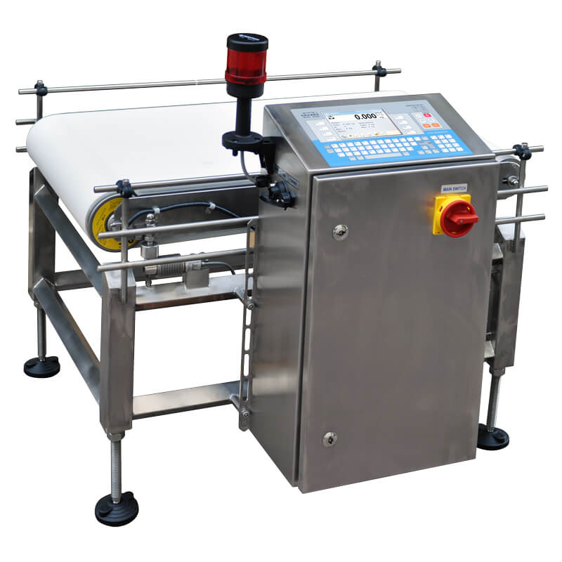 DWT/RC 10/SY Checkweigher - The device is manufactired in a stanless steel version. Automatic scale DWT/RC series is equipped with a terminal HY series ensuring stability and reliability of operation