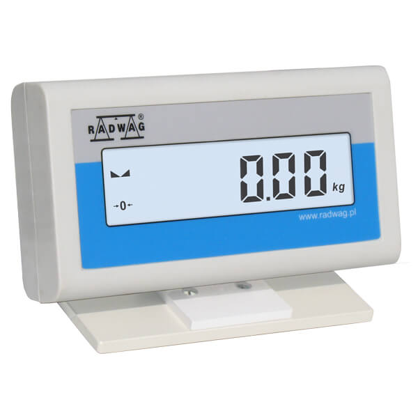WD - Additional LCD display available in a plastic housing with a stand. It is dedicated for cooperation with scales featuring an indicator PUE C/31 series