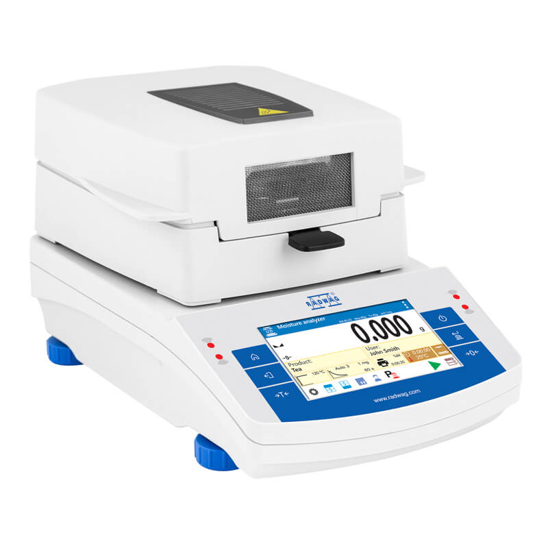 MA 50.X2.IC.A.NS Moisture Analyzer - X2 series is equipped with innovative system: the drying chamber can be opened and closed automatically using button or proximity sensors                                                 Such solution allows: Maintaining moisture analyzer clean – operator does not touch moisture analyzer's housing. Removing any shocks caused by manual closing of the chamber – the chamber closes automatically and always with the same intensity