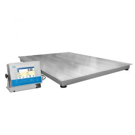 HX7.4.300.H8 Multifunctional Stainless Steel Platform Scale, pit version - 4 load cells guarantee correct weighing regardless of load placing at the platform. The scale provides 7 colour graphic display and a bar graph consisting of 9 diodes emiting red and green light