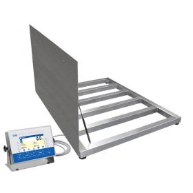 HX7.4.300.H6/Z Multifunctional Stainless Steel Platform Scale, pit version - The device's high protection class, IP66 / IP68, makes it suitable for use in industry. Comfort of operation is guaranteed thanks to a clear-cut menu, and a colour display featuring a 9-diode bar graph blinking red and green when signalling current net mass of a load in reference to the scale range or declared min and max thresholds
