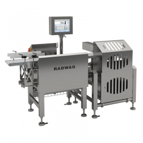 DWM 1500 HPX Checkweigher - Among these solutions there are: round-profile construction, no places accumulating contamination, fast disassembly of conveyors and belts requiring no tools, less flat horizontal surfaces on which contamination may accumulate, stainless steel mechanical design (AISI 304 or 316). Specially-designed gaskets, seal wires and shields guarantee IP69K ingress protection