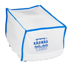 Fabric dust cover for MA R, MA X2 balances - Made of fabric, protects device housing against dust, dirt, etc. - Radwag Balances and Scales