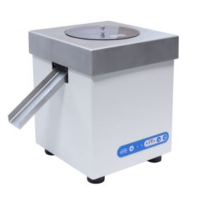 PA - PA-04/H, connected to RADWAG-manufactured laboratory balance, enables quick statistical control in accordance with strict pharmaceutical requirements.   Design and functionality:   Mechanical design of the device is based on cylindrical vibrating feeder with conical or stepped storage bin offered in stainless steel version