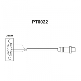 PT0022 Cable - 15 (5.19) terminal - Scales operated by means of PUE HY10 terminal - PUE C41H indicator - PUE 5