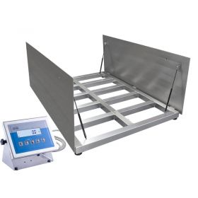 WPT/4 6000 H9/Z Stainless Steel Platform Scale, pit version - The scale features 4 load cells, and it is prepared for mounting as a pit version. The device comes standard with opening weighing platform enabling easy cleaning the area beneath the platform