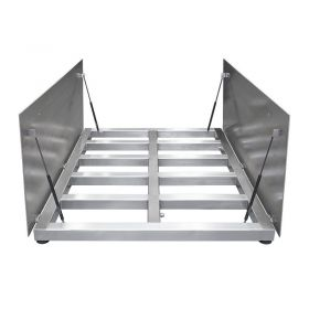 WPT/4 3000 H10/Z Stainless Steel Platform Scale, pit version