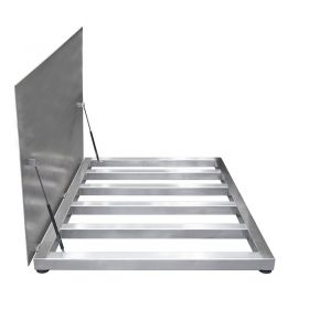 WPT/4 300 H7/Z Stainless Steel Platform Scale, pit version - The scale features 4 load cells, and it is prepared for mounting as a pit version.