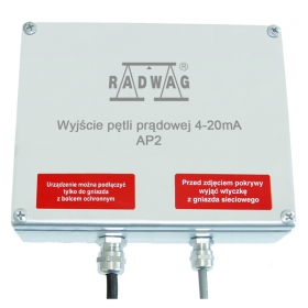 AP2 - RADWAG power loop module 4-20mA is designed for conversion of digital form of mass readout into analog one. Power output is a passive module, i