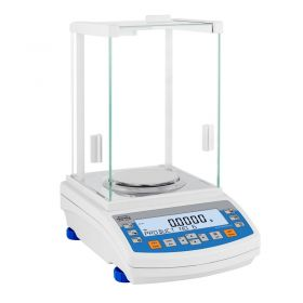 AS 220.R2 Analytical Balance - It features modern, readable LCD display which allows a clearer presentation of the weighing result. The display has a new text information line presenting additional messages and data, e