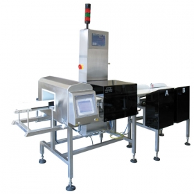 DWT/HL 7500/HPW Checkweigher - Application of metal detectors enables testing the products for contamination with metal particles. Checkweigher of DWT/HL/HPW series provides full control over goods and it is compatible with HACCP regulations applied in multiple manufacturing plants