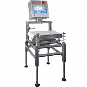DWT/RC 10/HYF Checkweigher - Automatic checkweigher DWT/RC/HYF series is dedicated to work on technological lines of food industry, where high humidity and frequent high pressure cleaning are the major issues. The construction has been designed to enable fast and easy cleaning