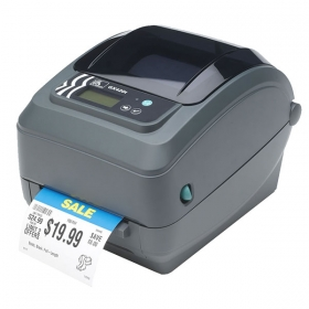GX 420t Zebra Printer -  Built with Zebra durability and reliability, the G-Series GK model provides the best value of all basic desktop thermal printers, while the premier GX model supports a variety of industries and applications with the widest range of features. Choose the space-saving direct thermal version of either model for the smallest footprint of any 4-inch desktop printer, or the direct thermal/thermal transfer version to save users time with the easiest ribbon-loading system available