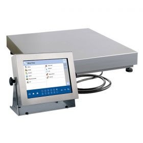 "Balanzas multifuncionales HY10.15.H3.K - The HY10 series scales is made of stainless steel OH18N9 including the weighing platform, and it is equipped with 10,1""colourful touch screen display, keyboard with numeric and function keys. The scales enables cooperation with an additional weighing platforms"
