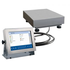 "Balanzas multifuncionales HY10.15.H1.K - The HY10 series scales is made of stainless steel OH18N9 including the weighing platform, and it is equipped with 10,1""colourful touch screen display, keyboard with numeric and function keys. The scales enables cooperation with an additional weighing platforms"