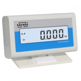 WD - The WD-4/4 series can function as data indicating display of main weighing platform or additional weighing platform. Area of Use: Designing of load cell based industrial scales; Increasing the functionality of scales based on terminal PUE 7 series