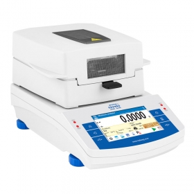 MA 200/1.X2.A Moisture Analyzer - X2.A series is equipped with innovative system: the drying chamber can be opened and closed automatically using button or proximity sensors Such solution allows: Maintaining moisture analyzer clean – operator does not touch moisture analyzer's housing