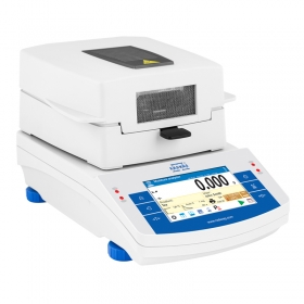 MA 50.X2.IC.A.WH Moisture Analyzer - X2 series is equipped with innovative system: the drying chamber can be opened and closed automatically using button or proximity sensors                                                 Such solution allows: Maintaining moisture analyzer clean – operator does not touch moisture analyzer's housing. Removing any shocks caused by manual closing of the chamber – the chamber closes automatically and always with the same intensity