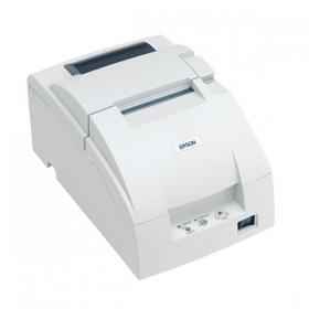 Epson TM -   APPLICATION: Elles constituent l'équipement supplémentaire de systèmes de balance; Les imprimantes permettent l'impression de tickets de caisse dans les systèmes de comptage et d'étiquetage.   FONCTIONNALITÉ: Boîtier en plastique Interface RS 232 Vitesse d'impression: 6 lignes/s (30 signes dans la ligne) Machine à bobiner intégrée – type A Coupe-papier intégré – type A et type B Fonction Auto Status Back Frais bas d'utilisation et d'entretien Signes polonais en standard PC852 Compatibilité pleine avec le modèle précédent TM-U210
