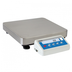 WLC 6/F1/R Precision Balance - The balance features a stainless steel weighing pan, and a backlit LCD guaranteeing clear weighing result presentation. Optionally, they can be equipped with additional RS232 connector
