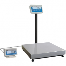 C315.P.60 Postal Scale for Packages - Postal scales is designed for weighing parcels with possibility of multiple tarring in whole measuring range. The device comprises indicator PUE C315 series, which features a backlit LCD display, assembled on a pillar attached to the back side of the weighing platform