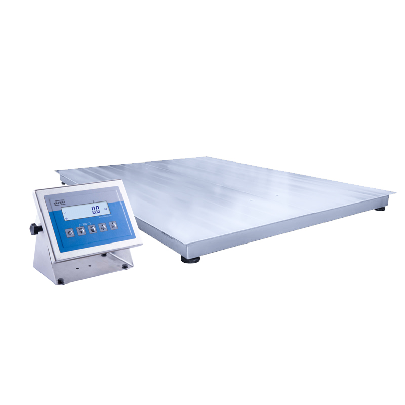 WPT/4 150 H6 Stainless Steel Platform Scale - The WPT/4H series comprises a system of 4 load cell that are connected to an indicator PUE C/31H series in stainless steel housing. The indicator features backlit LCD display and function buttons