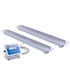WPT/4P2 6000 H1 Stainless Steel Beam Scale - The load to be weighed can be placed on the beams by a standard fork-lift truck. Beam scales WPT/4P2/H series is manufactured in stainless steel version