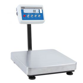 C315.3.F1.M Load Cell Platform Scale - The C315 series features an indicator PUE C315 series comprising backlit LCD display. C315 scales is manufactured using powder coated mild steel profiles, with stainless steel weighing platform