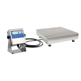 WPT 150/HR3/K Waterproof Scale With Stainless Steel Load Cell - Design:   Single load cell stainless steel platform scales WPT HR series is based on an indicator PUE C/31H series. The indicator features large backlit LCD display and function buttons for easy operation