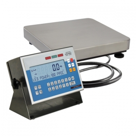 WPW 15/F1/K Multifunctional Scale - Functionality description of scale's versions:   Standard WPW scales:   Multifunctional WPW scales features a terminal PUE C41H series with backlit LCD display and a single load cell weighing platform in mild steel version. Scales WPW series is available in dual range version on surcharge