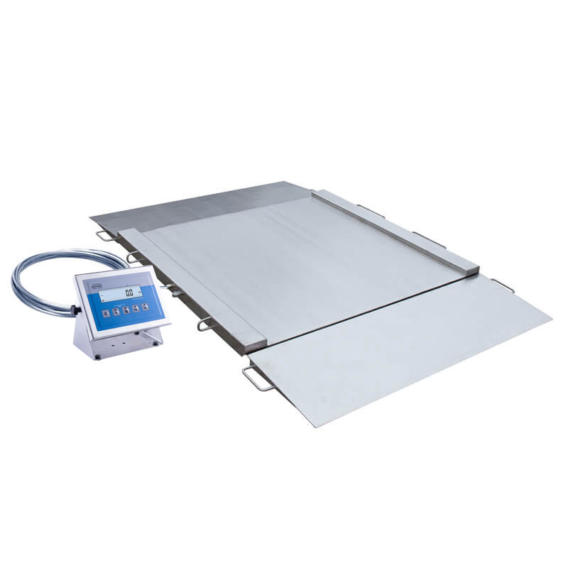 WPT/4N 600 H2 Stainless Steel Ramp Scale -   Ramp scales is manufactured from OH18N9 stainless steel with IP 68. On special order, it is possible to manufacture ramp scales in upgraded anti-corrosion stainless steel version