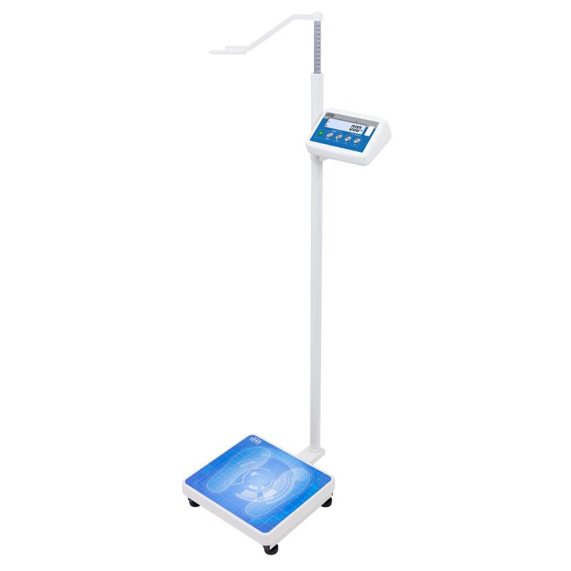 Balance pèse - La balance pèse-personne est conçue pour le pesage de patients profitant de services de différentes institutions médicales. À l'aide d'un stadiomètre on peut mesurer un patient de taille jusqu'à 2 mètres